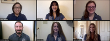 Six students in a Zoom meeting.