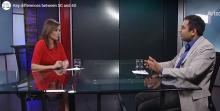 Screen capture of a video of Arizona 360 newscaster Lorraine Rivera interviewing Ravi Tandon