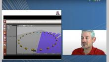 Jonathan Sprinkle conducts a virtual presentation with vehicle simulations.