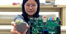 Doctoral student Sixing Lu is helping ECE associate professor Roman Lysecky develop technology on a prototype network-connected pacemaker (left) to detect hacking of a real pacemaker (right).