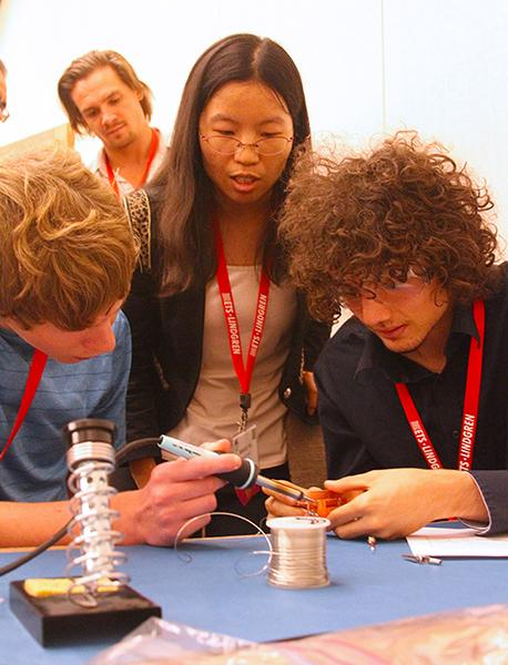 UA, ASU and NAU students design and test antennas during a workshop at the Antenna Measurement Techniques Association Meeting and Symposium.