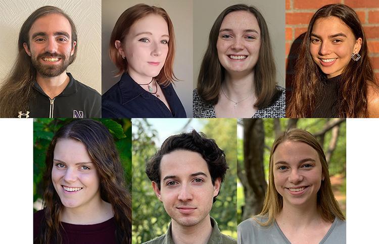 Alex Richardson, Sara Roman, Kate Sanborn, Sophia Somerscales, Anna Vander Kamp, Isaac Wasserman and Audrey Wiseman