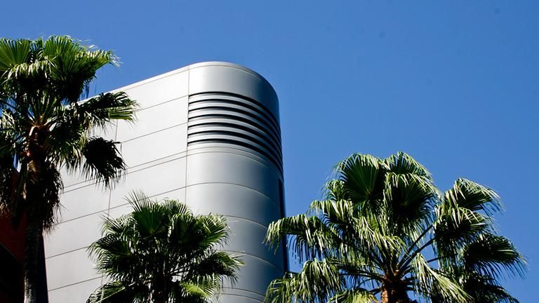 Detail of ECE Building on University of Arizona campus