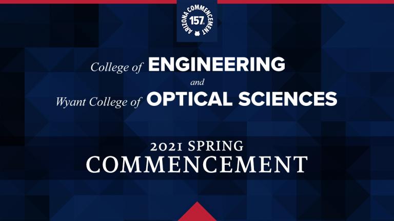 UArizona College of Engineering Commencement Header