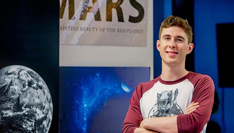 ECE undergraduate student Gordon Downs is helping develop new ways to analyze data from the NASA Curiosity mars rover as a collaborator on the Mars Science Laboratory science team.
