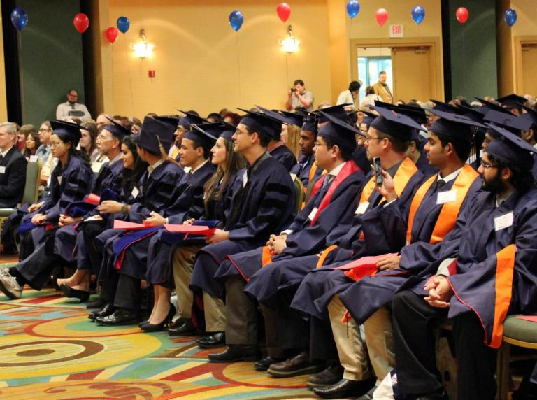 Students honor faculty and staff at ECE's pre-commencement ceremony.